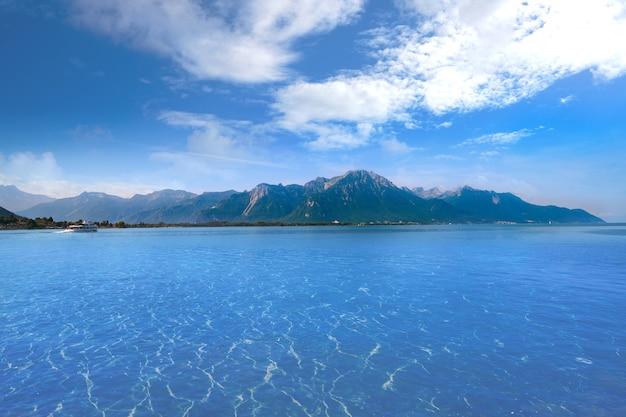 Leman geneva lake in switzerland