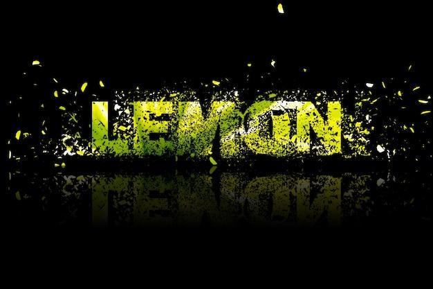 Лимонный абстрактный фон иллюстрации элемент дизайна искусства