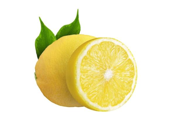 レモンと葉の半分のレモン...
