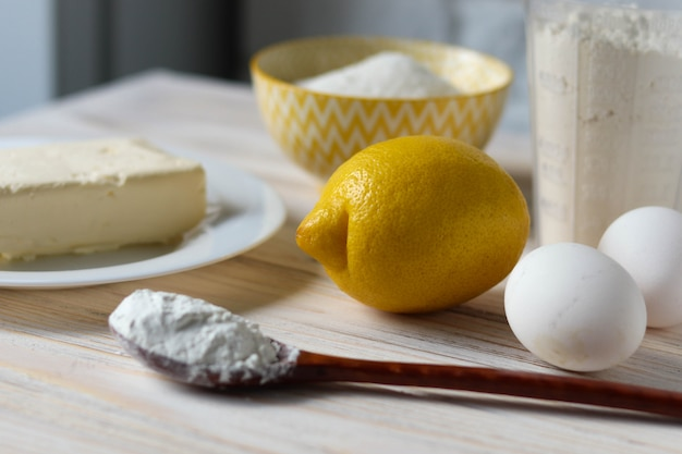 Lemon for baking, baking recipe with a lemon