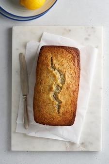Лимонный хлеб с маком домашняя деревенская пекарня вертикальная плоская планировка