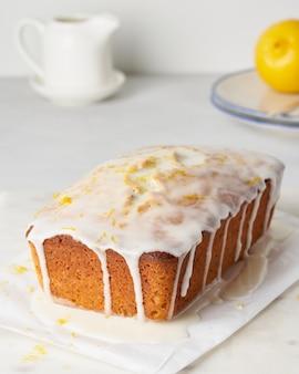 Лимонный хлеб с цедрой мака и глазурью домашняя фруктовая выпечка