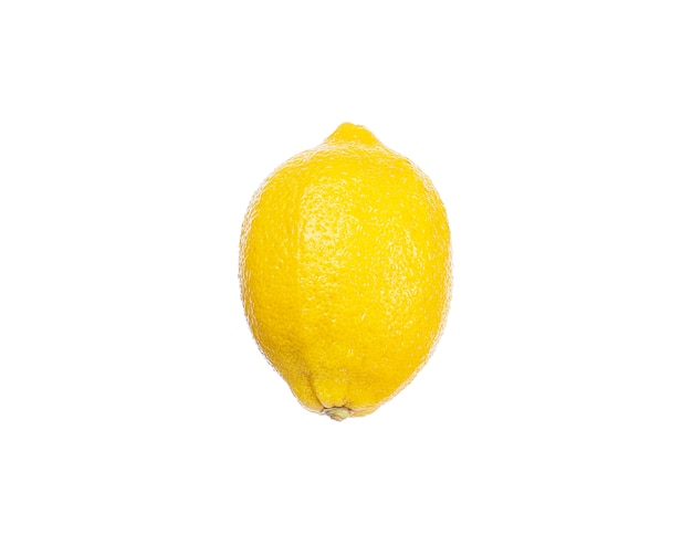 Lemon fruit yellow with water drops on a white wall isolate. natural healthy food, vegetarian food.
