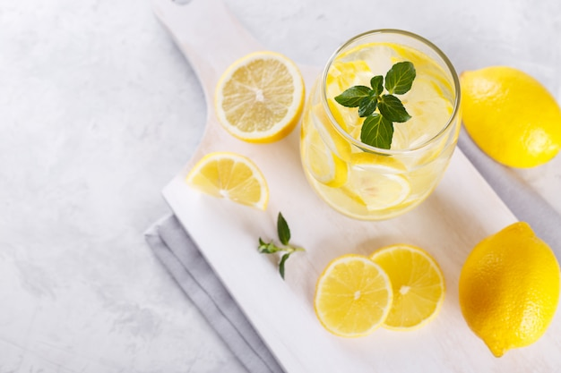 Lemon infused water