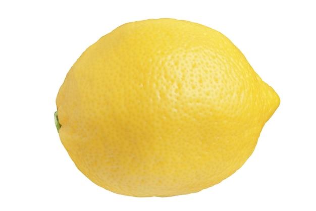 Лимон изолирован на белом фоне. полная глубина резкости ....