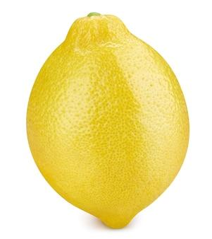 Лимон, изолированные на белом фоне. путь отсечения плодов лимона. лимонный макро фото
