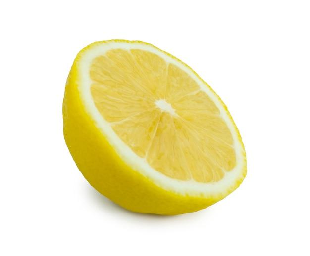 Лимон, изолированные на белом фоне с обтравочным контуром