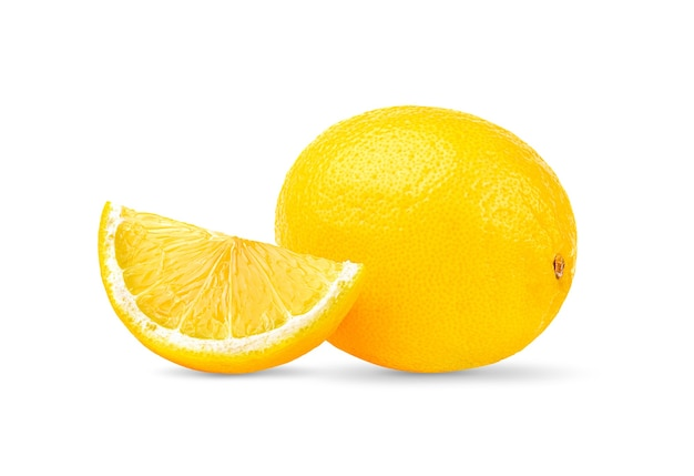 Лимон, изолированные на белом фоне