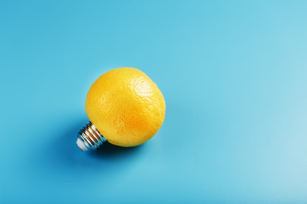 Lemon light bulb