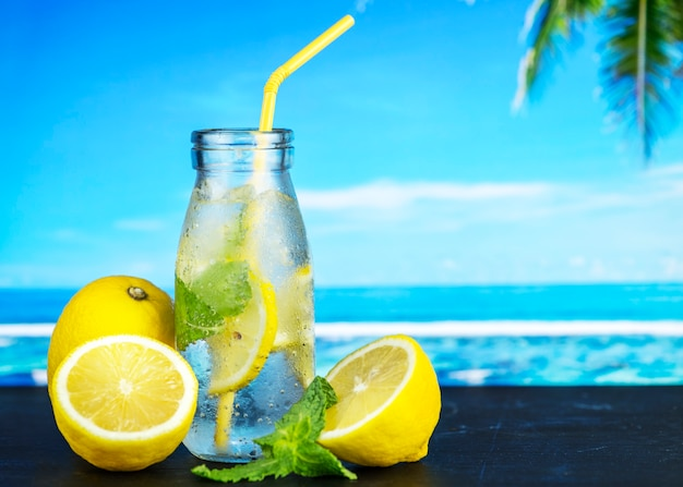 Lemon mint infused water recipe