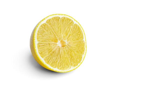 Лимон на белом фоне. фото высокого качества