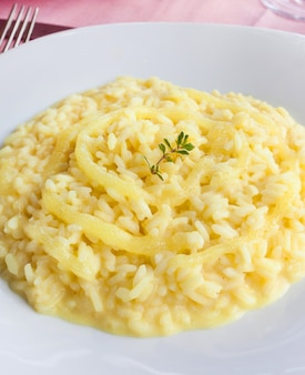 Lemon rice, typical food of positano.