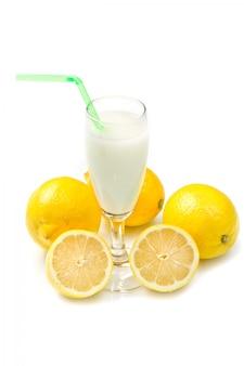 Lemon sorbet on black