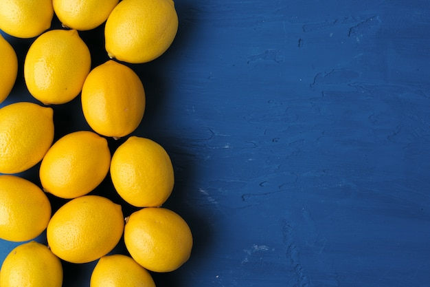 Lemon, top view