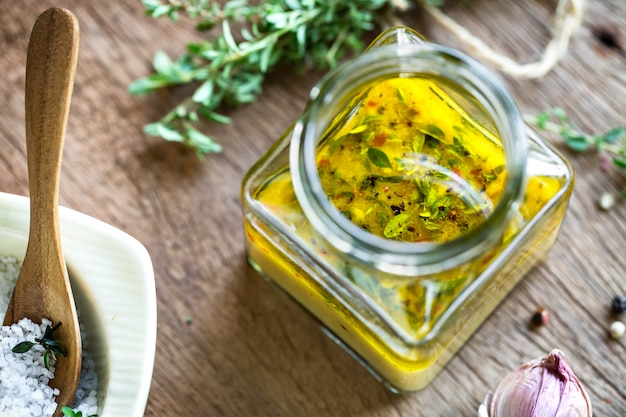 Lemon vinaigrette with thyme