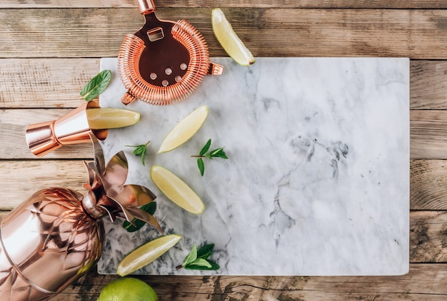 Lemonade, infused water or mojito cocktail making