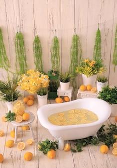 ハーブと花のレモネード