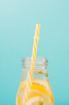 Lemonade with straw