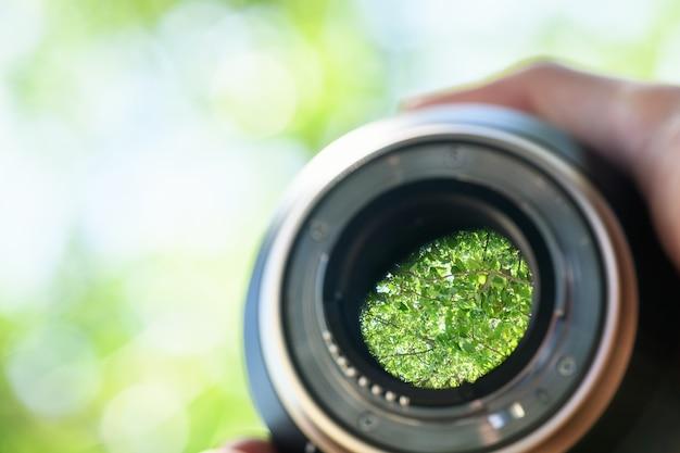 Lens aperture. mount part of a lens for a dslr camera