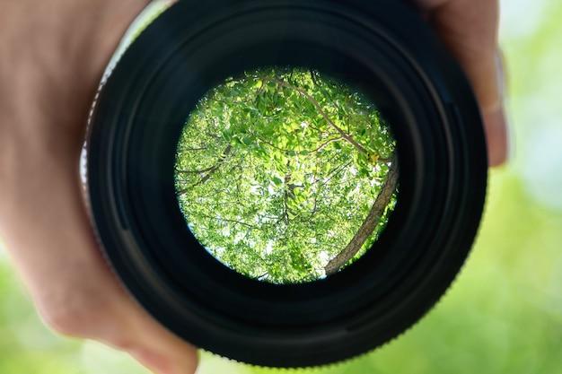 Lens aperture. mount part of a lens for a dslr camera Premium Photo