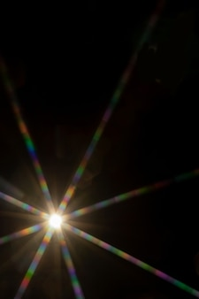 The lens flare is subject to digital correction
