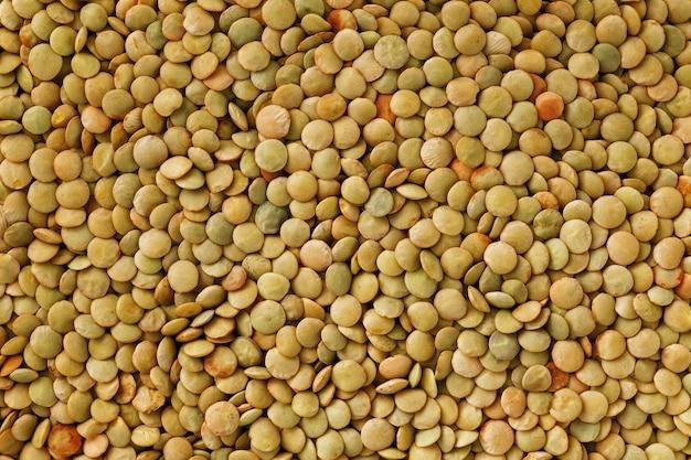 Lentils. lentils background. green lentils pattern. natural organic lentils for healthy food