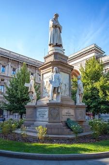 Leonardo's monument on piazza della scala