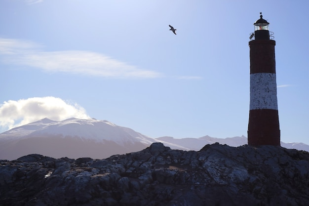 Les eclaireurs lighthouse on in beagle channel ushuaia tierra del fuego patagonia argentina