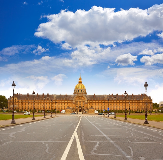 Les invalides facade in paris france