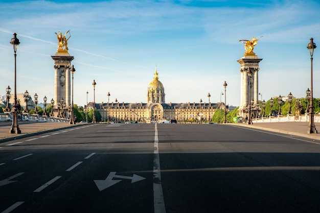 Les invalides (national residence of the invalids), complex of museums and monuments.