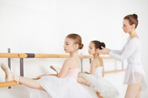 Lesson of ballet