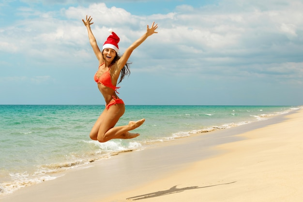 Let's celebrate christmas on the beach