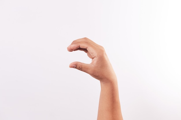 Letter c of the alphabet of sign language
