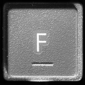 コンピューターのキーボードの文字f