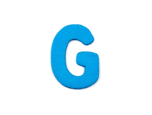 木で作られた文字g