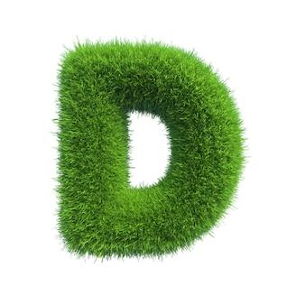 Letter of green fresh grass