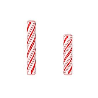 文字iミントキャンディケインアルファベットコレクション白地に赤いクリスマスカラーのストライプ。 3dレンダリング