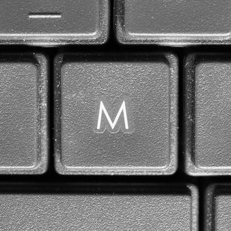 컴퓨터 키보드의 문자 m