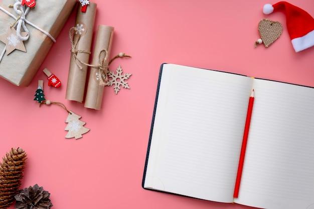 산타 클로스에게 보내는 편지, 밝은 분홍색 배경에 크리스마스 위시리스트