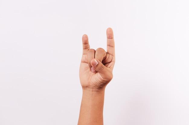 分離された手話のアルファベットの文字u