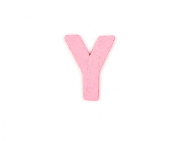 Letter y made of wood
