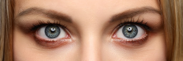 Letterbox view of pretty amazing female eyes
