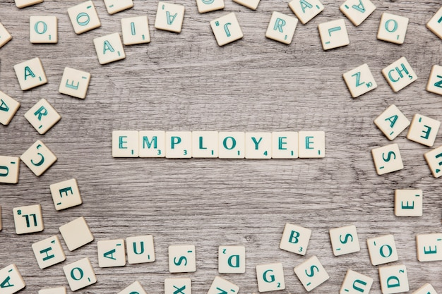 Letters forming the word employee