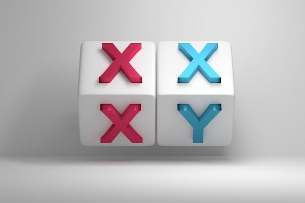 Буквы xx и xy обозначают мужские и женские хромосомы