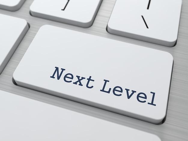 Next level, button on modern computer keyboard