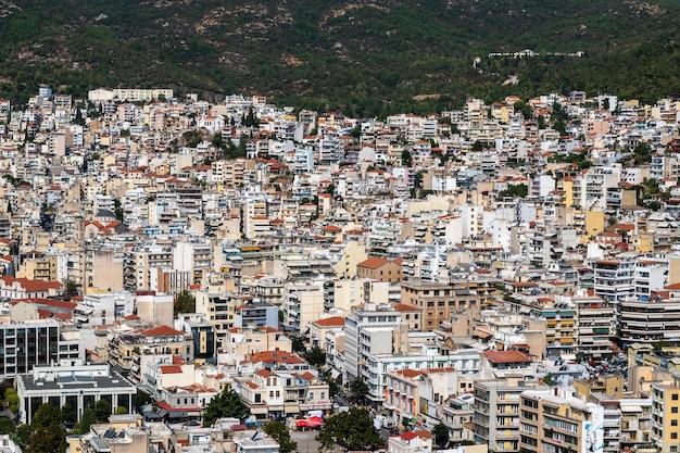 Levels of multiple residential and state buildings in kavala, greece
