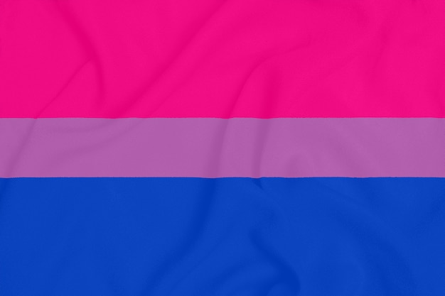Lgbt bisexual pride community flag on a textured fabric. pride symbol