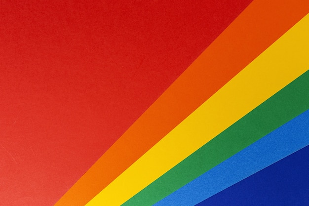 Lgbt colorful background seen from above. flat lay. rainbow colors