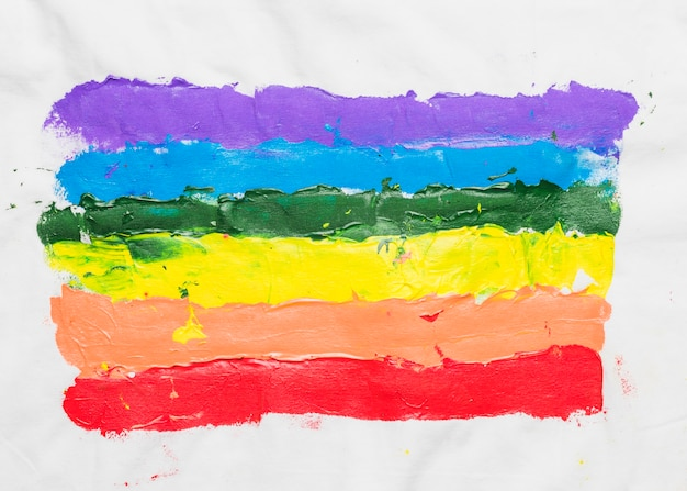Lgbt flag drawn by hand