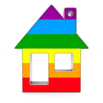 Lgbt house. isolated 3d rendering